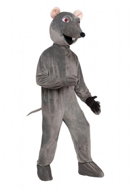 Adults Rat Big Head Costume Rodent Mouse Fancy Dress